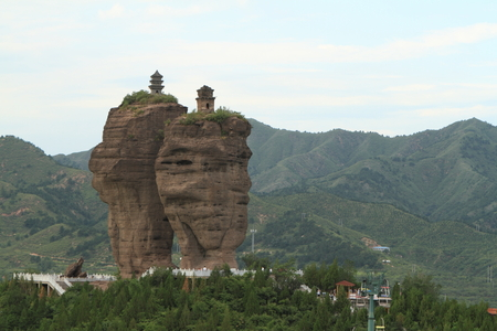 Rock Formation of Chengde in China Stock Photo