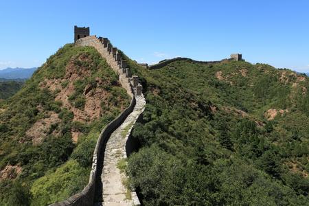 bulwark: The Great Wall of China Jinshanling Stock Photo