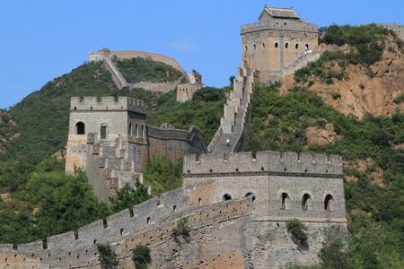 badaling: The Great Wall of China close to Jinshanling Stock Photo