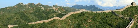 The Great Wall of China close to Jinshanling Stock Photo