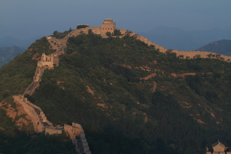 The Chinese Wall at Jinshanling with Sunrise early in the Morning photo