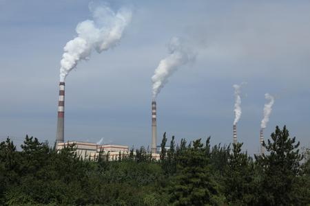 contaminacion del aire: Contaminaci�n del aire en China Foto de archivo