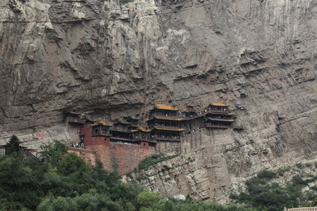 si: The Hanging Monastery Xuankong Si in China Editorial