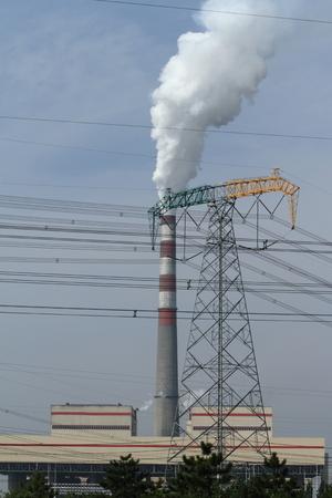 pollution air: la contaminaci�n del aire en China Foto de archivo