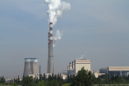 carbon emission: the Air Pollution in China Stock Photo