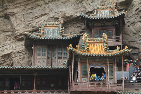 si: The Hanging Monastery Xuankong Si of Datong in China
