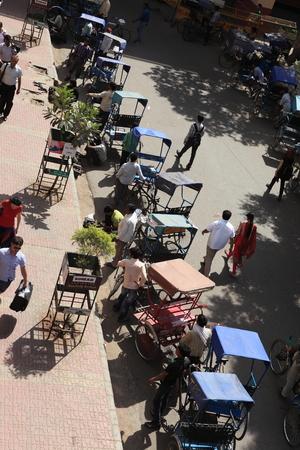 rikscha: Indian Bicycle Taxi oder Rikscha-