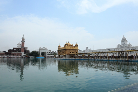 amritsar: The Golden Temple of Amritsar in India Stock Photo