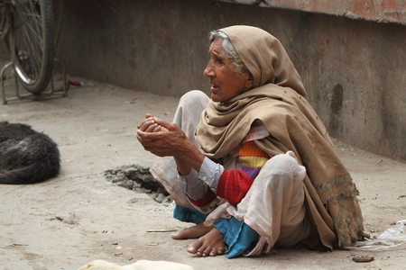 Poor Woman in India