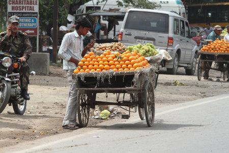 street market: The Street Market of Amritsar in India