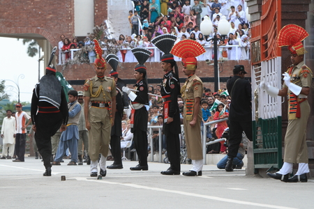 wagah: The Border Ceremony of Attari between India and Pakistan