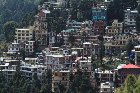 dalai: The City of Dharamsala in India Stock Photo