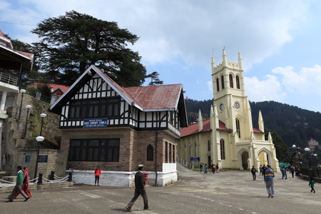christ church: Christ Church in the city of Shimla in India