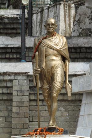 mahatma: Mahatma Gandhi statue in Shimla India Editorial