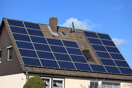 housetop: Solar Energy Stock Photo
