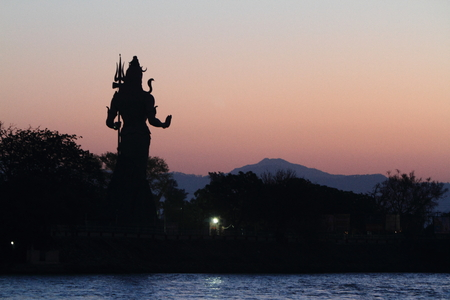 devi: The Holy City Haridwar on the Ganges in India Stock Photo
