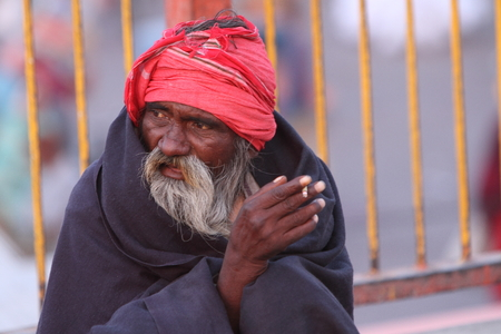 hindus: Holy Sadhu in Haridwar India