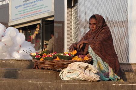 saleswomen: Indian People Stock Photo