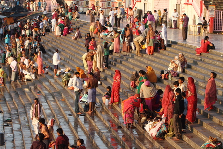 devi: The Holy City Haridwar on the Ganges in India Editorial