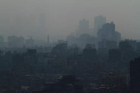The City of Cairo in the smog
