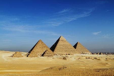 De piramides en de Sfinx van Gizeh in Egypte