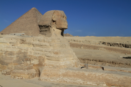 sphinx: The Pyramids and Sphinx of Egypt Stock Photo