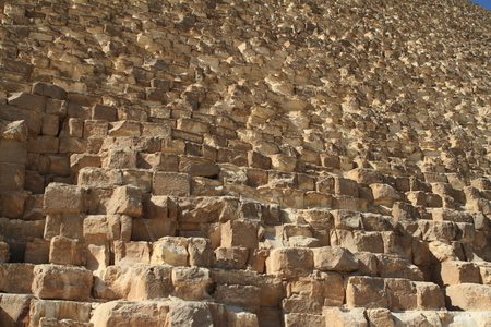 stepped: The stone steps of the pyramids Stock Photo