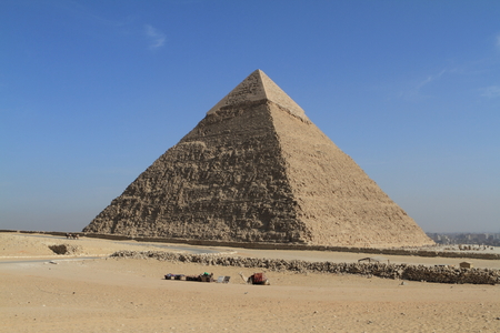 cheops: The Pyramids and Sphinx of Egypt Stock Photo