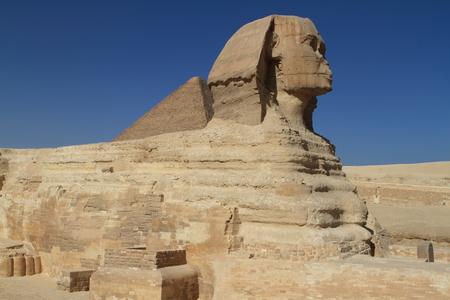 esfinge: The Pyramids and Sphinx of Egypt Foto de archivo
