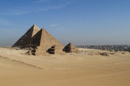 esfinge: Las Pirámides y Esfinge de Egipto Foto de archivo