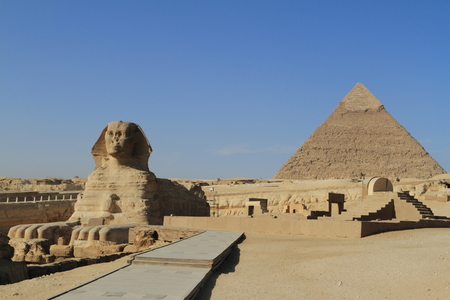 The Pyramids and Sphinx of Egypt Stock Photo