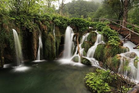 waterfall: Plitvice lakes in Croatia