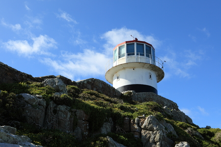 cape of good hope: The Lighthouse of Cape of Good Hope in South Africa Stock Photo