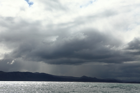 cape of good hope: Rain clouds on the Cape of Good Hope
