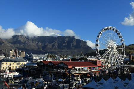 center city: The Ferris Wheel of Cape Town with Table Mountain