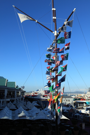 flagpoles: Flags in Cape Town