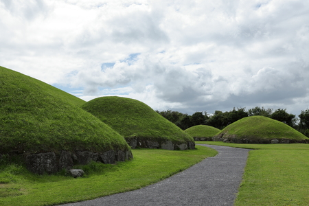 The Tumuli of Newgrange in Northern Ireland