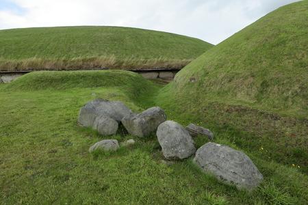 northern ireland: The Tumuli of Newgrange in Northern Ireland