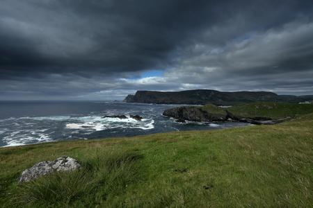 The coast of Glen Head in Ireland