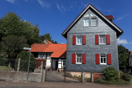 restoring: Half-timbered house in Germany