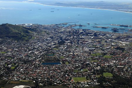capetown: The City of Capetown in South Africa Stock Photo