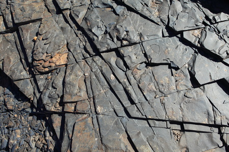 obrero: Las placas se enfriaron lava