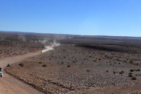 namibia: Desert road in Namibia Stock Photo