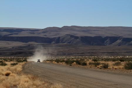 desert road: Desert road in Namibia Stock Photo