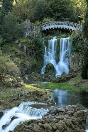 The devil bridge in the mountain park Wilhelmshoehe in Cassel