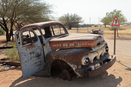 bribe: Carcasses de voitures en Namibie