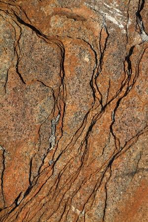ore: Stone slab of iron ore mineral Stock Photo