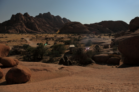 namibia: Campsites at the Spitzkoppe in Namibia