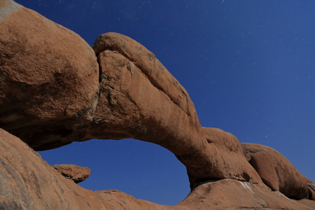 rock arch: The rock arch bridge in Namibia Stock Photo