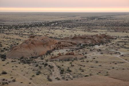 spitzkoppe: The savanna in Namibia Stock Photo
